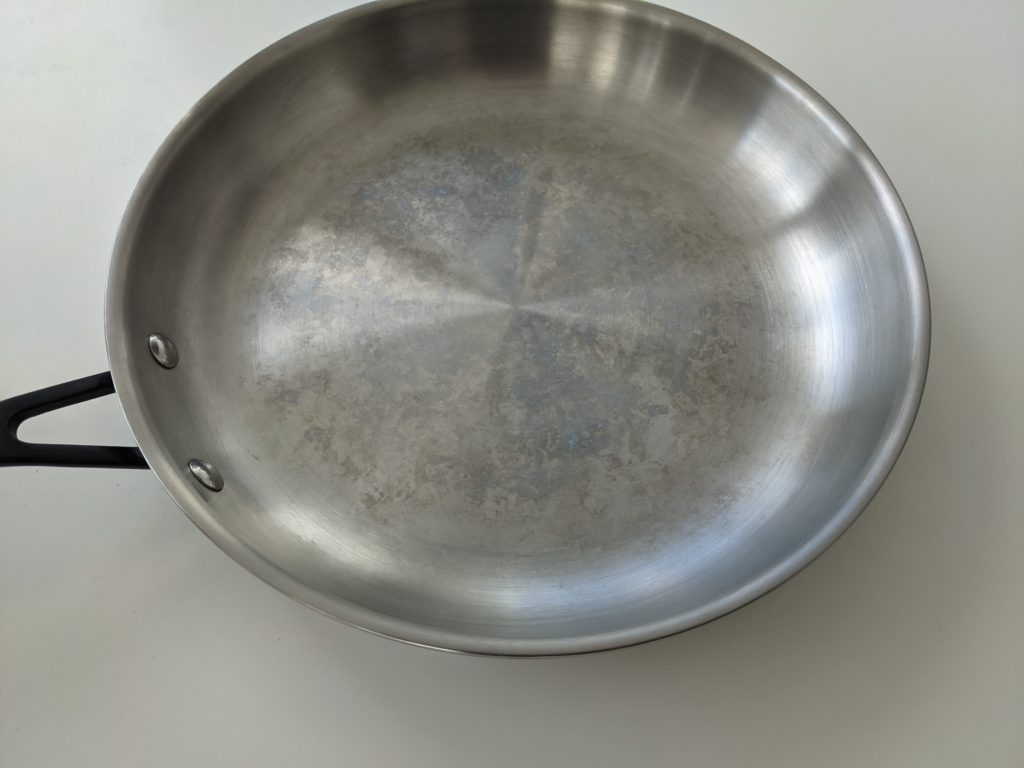 kitchenaid 12.25 fry pan water spots