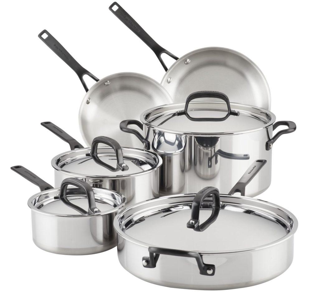 kitchenaid cookware 10-piece set